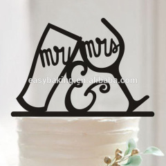 Wedding Birthday Party Decoration Mr & Mrs Wine Glass Cake Topper