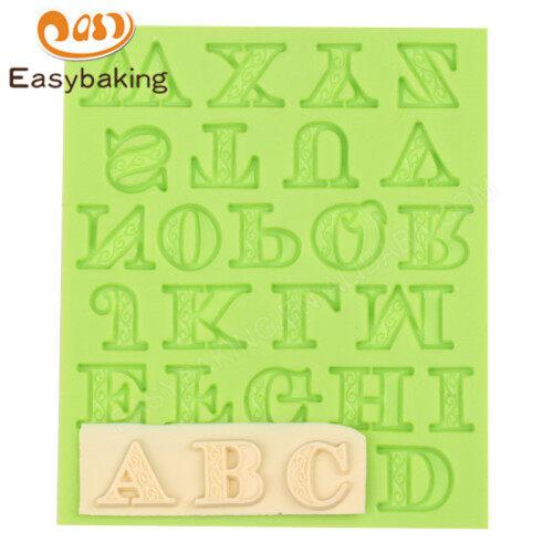 Alphabet Fondant Silicone Molds for Cake Decorating tools