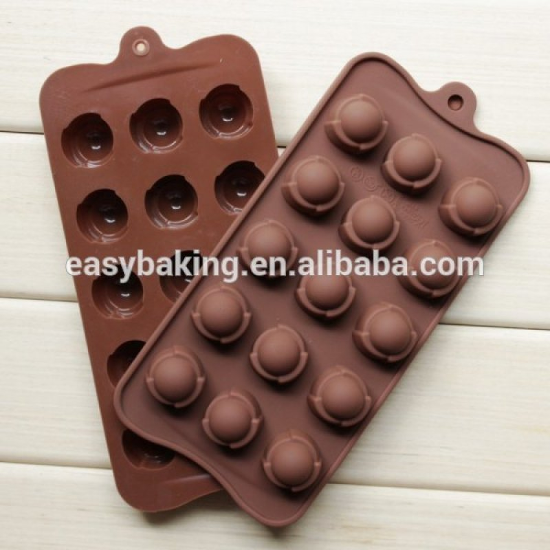15 Cavities Jelly Candy Tools Round Silicone Chocolate Mold
