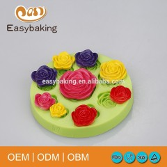 Peony Rose Shaped Candle Craft Flower Making Silicone Mould For Cake Decoration