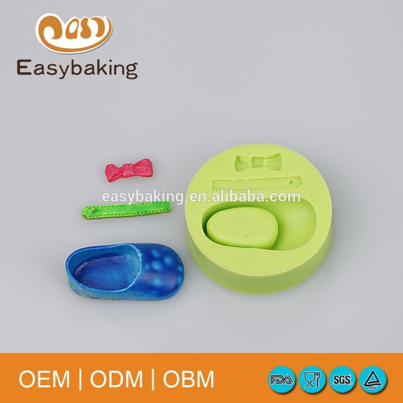 Baby Accessories Celebrate Birthday Single Shoe Bow Silicone Mold Cake Decoration Tool