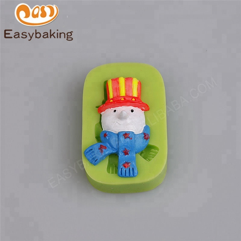 Christmas Snowmen With Scarf And Hat Silicone Cake Decoration Mould
