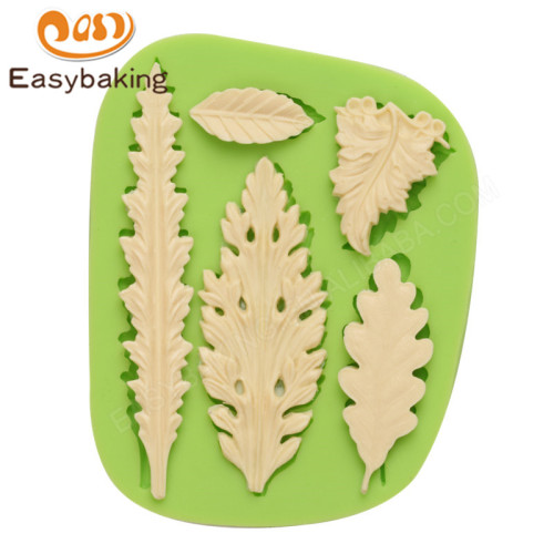 3d custom leaf shape cake baking decorating silicone mould