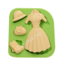Lady Dress Silicone Mold for Clay