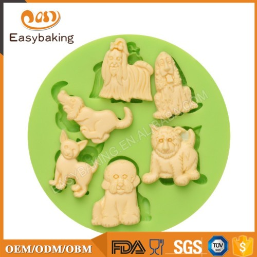 Chinese Goods Wholesale Assorted Dog Baking Silicone Molds