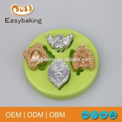 Create a Pretty Cake Decoration with Charming Jewel Brooch Mold