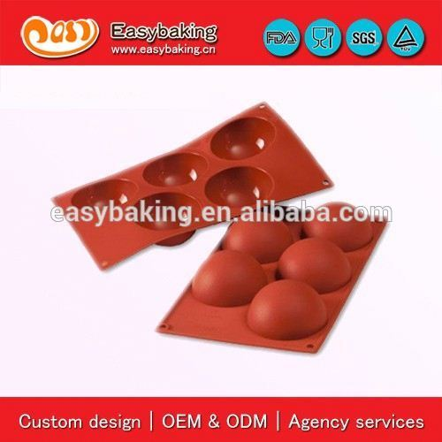 Sample Available 5 Cavities 8cm Half Sphere Cake Bakeware Silicone Baking Tools