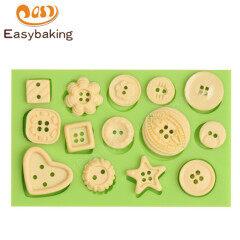 3d  button shape silicone fondant mold for cake decoration