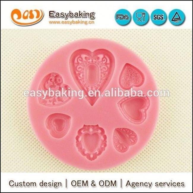 Wholesale Custom 3D Love Heart Chocolate Silicone Mold For fondant