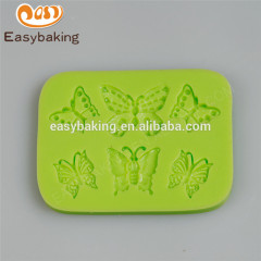 OEM Supplier Butterfly Fondant Cake Decorating silicon mold