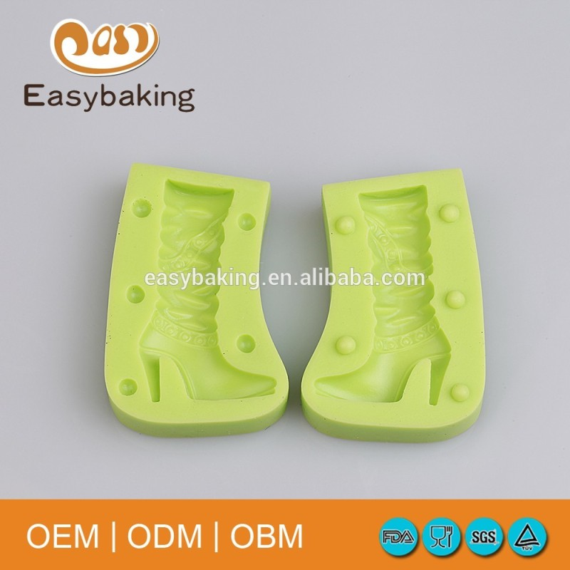 High-heeled shoes shaped polymer clay molds fda approved silicone soap making molds