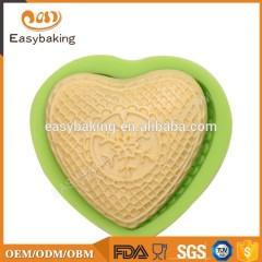 Silicone heart shape hand made soap mold