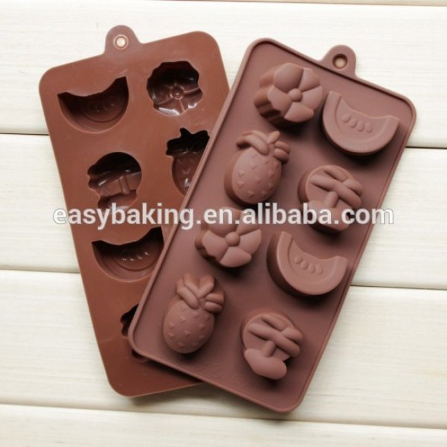 New product DIY fruit shape silicone chocolate jelly pudding mould