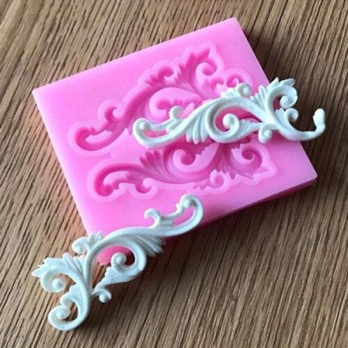 Vintafe Baroque Bow Lace Decoration Silicone Sugarcraft Mould