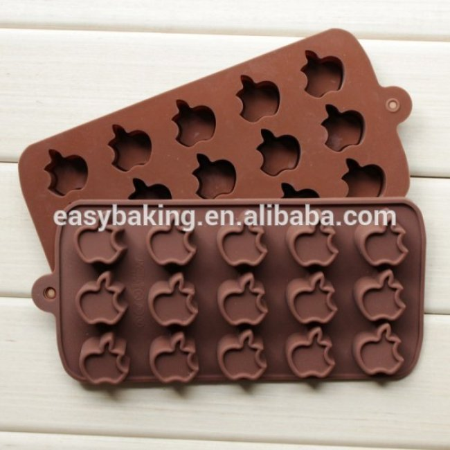 High quality apple shape silicone chocolate mold jelly mould cake decorating