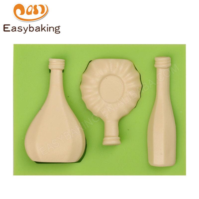 Bottle  shape fondant mold 3d silicon cake mould