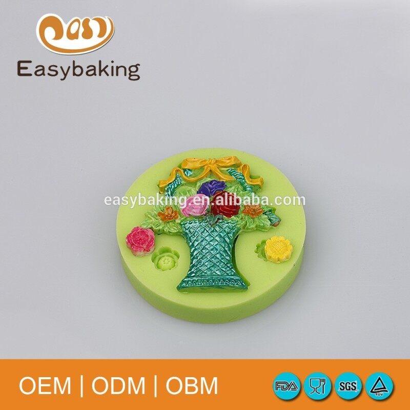 Handicrafts Ear Studs Vase Bouquet Cake Decoration Silicone Fondant Mould