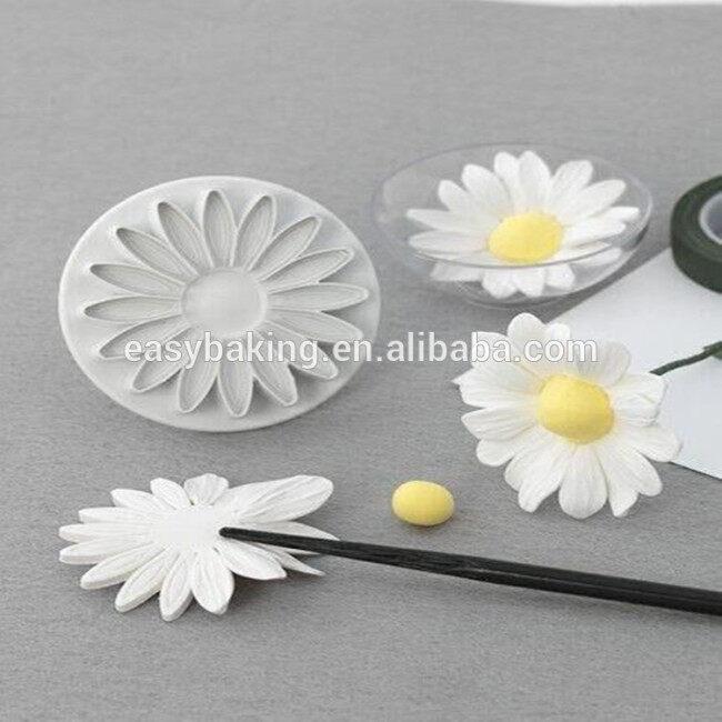 Cake Decorating Fondant Gumpaste Daisy Flower Impression Cutters/Plungers