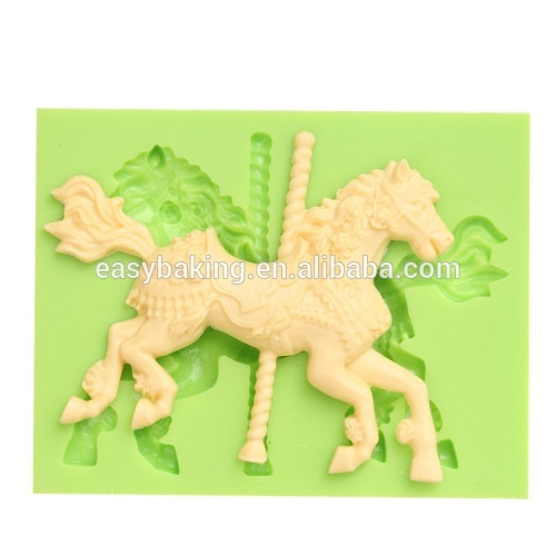 2017 Amazon hot sale horse silicone soap mold