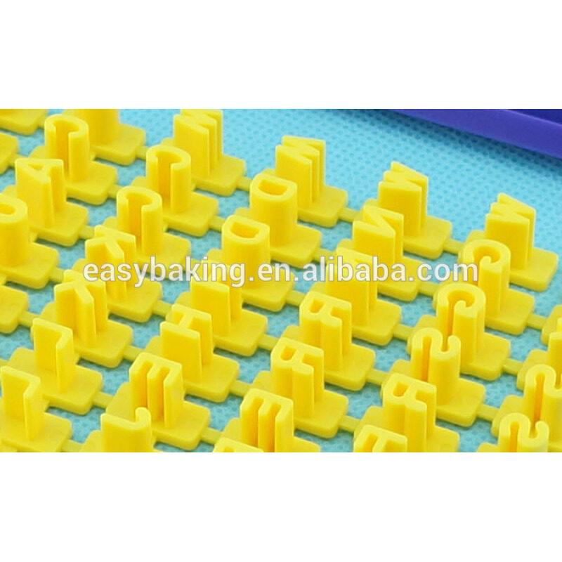 Alphabet number press cutter cookie fondant cake decoration imprint