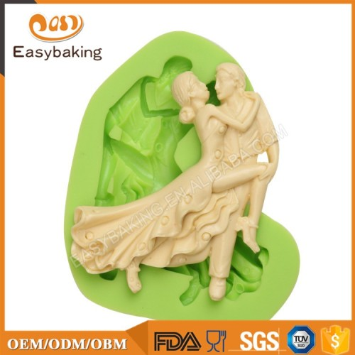 Dancing lady and gentleman Cake Decorating Silicon Mold Supplies