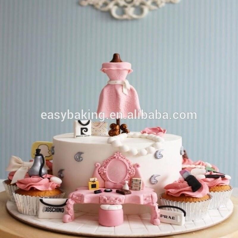 Princess dream make up item cake decorate silicone fondant molds