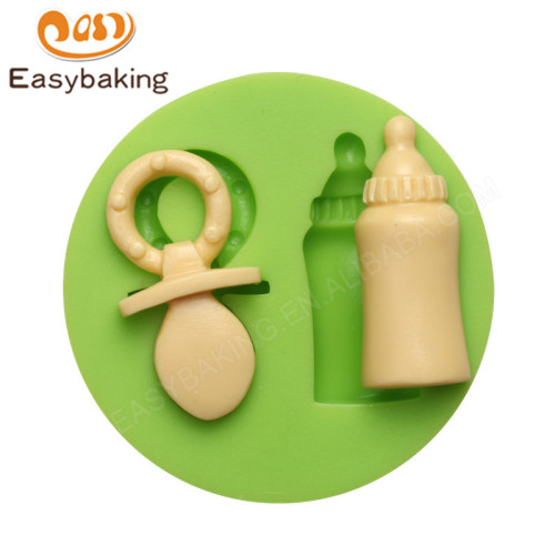 Pacifier and baby bottle shape silicone fondant tool cake decorating mold