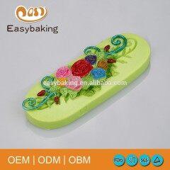 Resin Bud Rose Flower Leaf Arts & Crafts Cake Decoration Silicone Fondant Mould