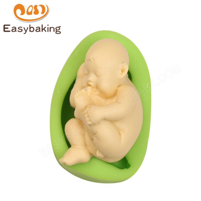 Baby Sucking on Its Toes Silicone Soap Molds