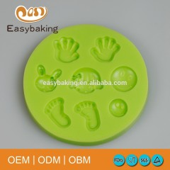 Fda Approved Baby Feet Hands Smiling Face Design Cake Molds Silicone