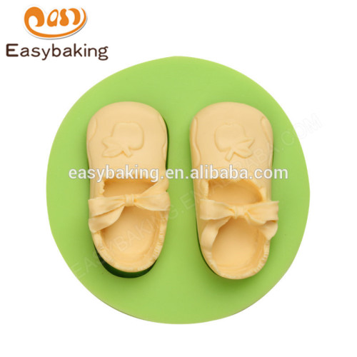 Promotion custom food grade multifunction baby shoes silicone molds for girl