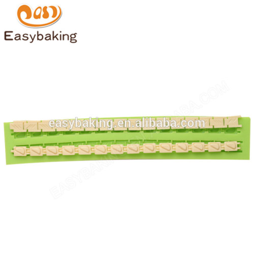 Food grade handmade 198*35*8 fondant decorations silicone molds