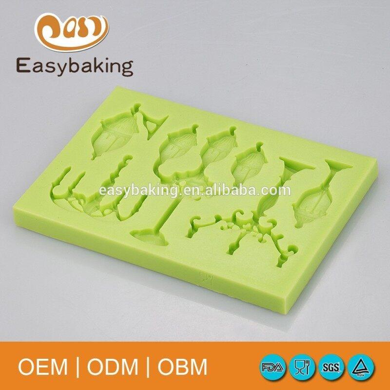 Arts & Crafts Multi Shapes Lamp Post Silicone Cake Decorating Baking Molds