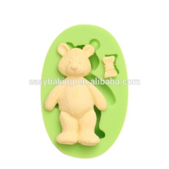 Hot sale handmade bear silicone mold for soap and candle