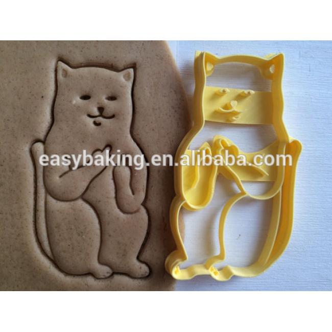 Plastic Cookie Cutter Cat with middle finger sceptical cookiecutter cookies custom shape custom size custom