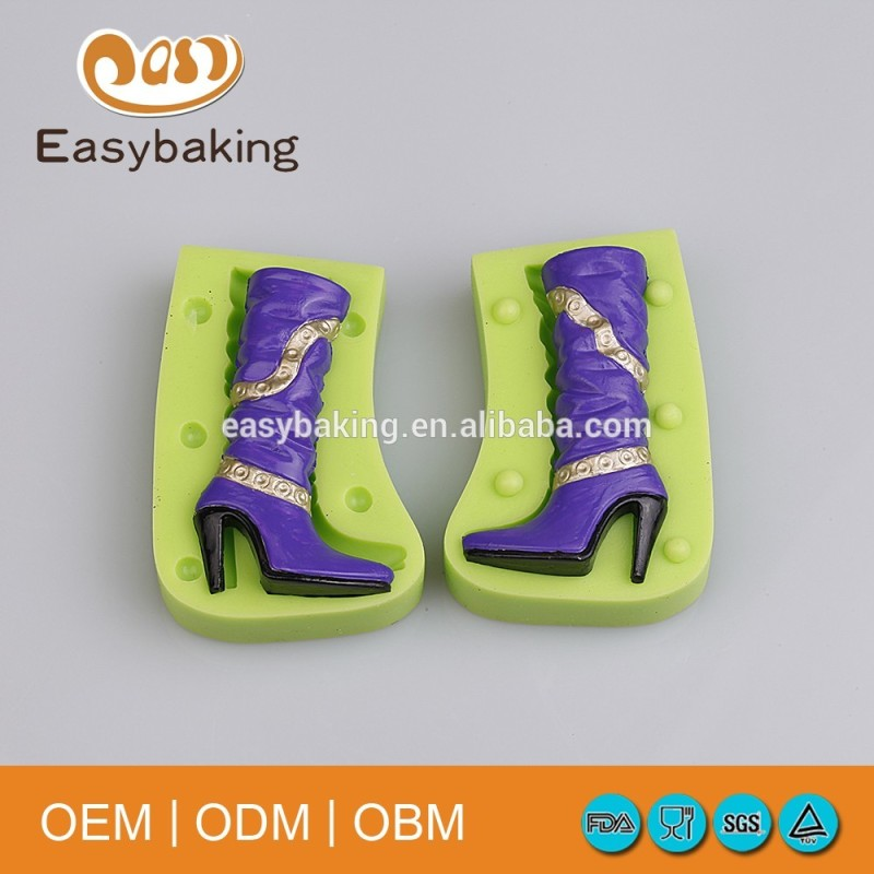 New Design 3D Long Canister High Heel Women's Boots Silicone Bakeware Molds For Celebration Cake Decorate & Pendulum Jewelry