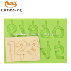 Wholesale new design arabic numerals 0 to 9 fondant novelty silicone ice molds