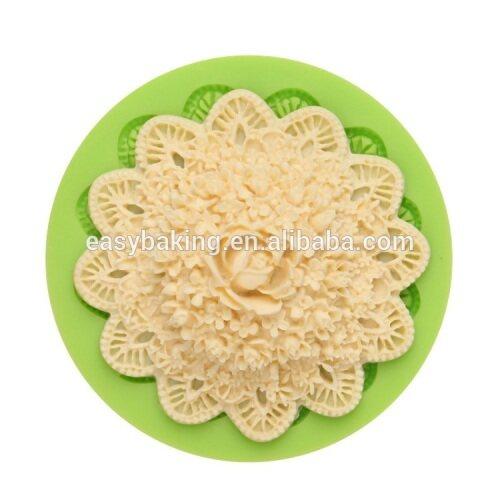 Customized flower shape fondant cake muffin silicone cake decorating mold