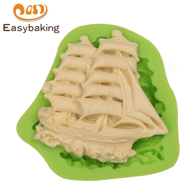 3D Boat  Shape Cake Decorating Tools Baking Mold Fondant Silicone Mold