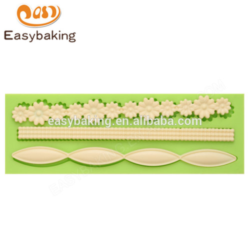 China factory newest 100%food grade 158*54*9 baking mold silicone