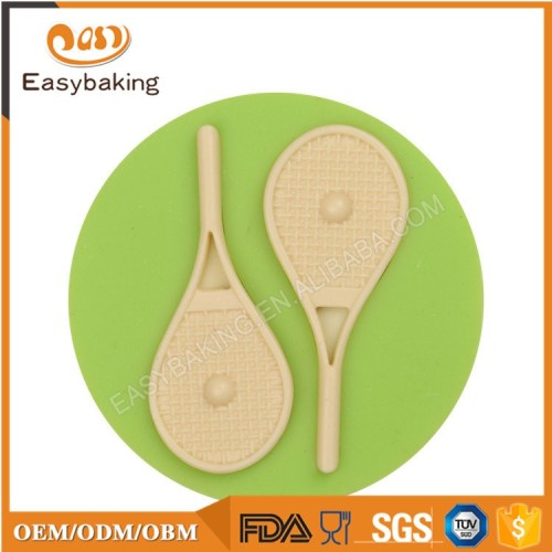 Tennis Rackets and Balls Round Silicone Mould Cake Decorating