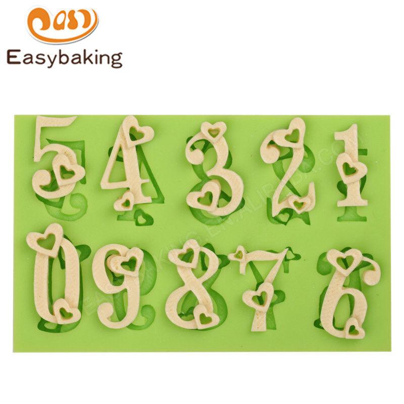 Russian Letters Sugarcraft Paste Fondant Mold Cake Decorating Mold