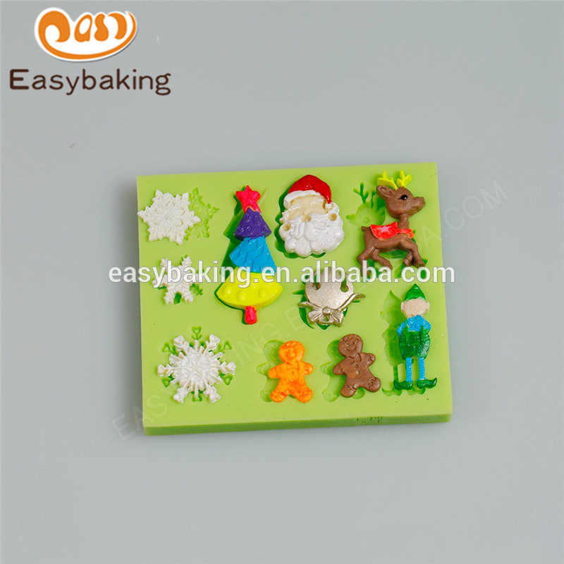 Factory popular special trending products christmas design cake mold
