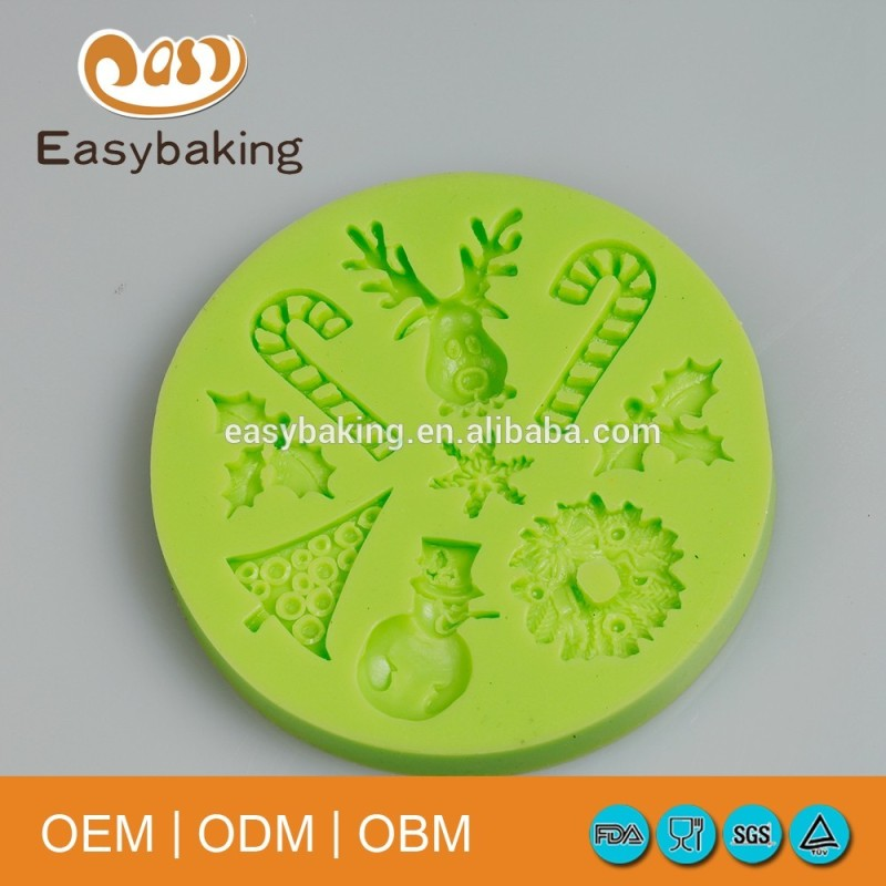 Christmas series cake decorating minecraft silicone ice mold