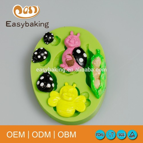 Food Grade Insect Series Silicone Mold Bee And Ladybird Cake Decorating Tool