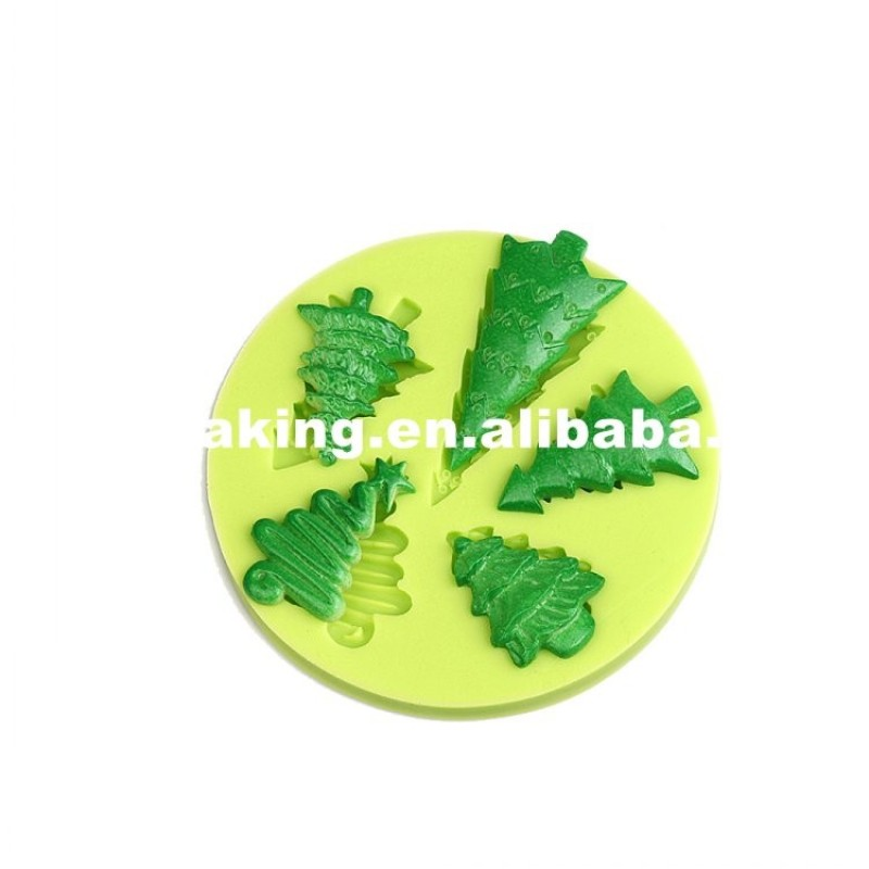 Five Different Shapes Christmas Trees Ornament Mold For Sale
