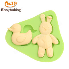 Rabbit Duck Animal Silicone Fondant Mould for Cake Decorating