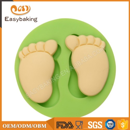 2017 Hot Sale Baby Feet Silicon Cake Molds For Fondant