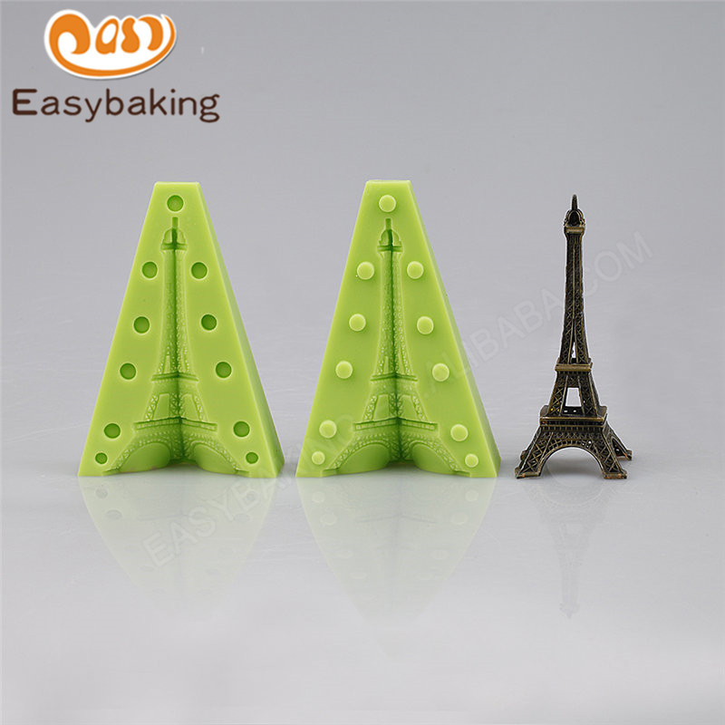 DIY 3D Eiffel Tower Cake Topper Silicone Mold