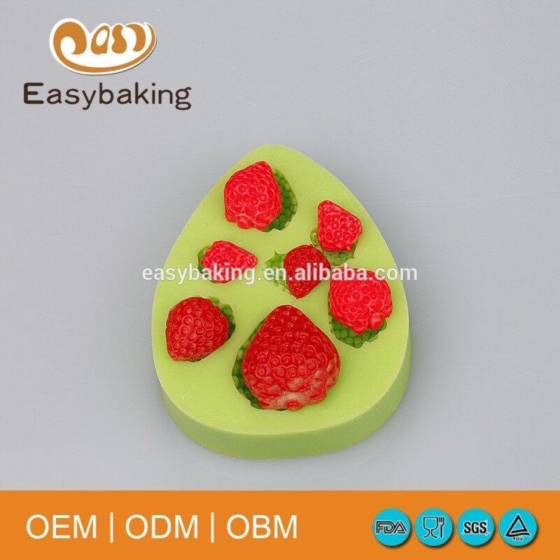 Hot Sale Item Strawberry Cupcake Decorate Baking Silicone Fondant Molds